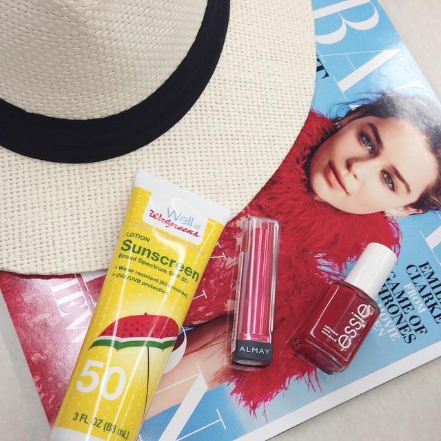 Picking up some summer essentials walgreens summerfun ad doubletap almayhellip