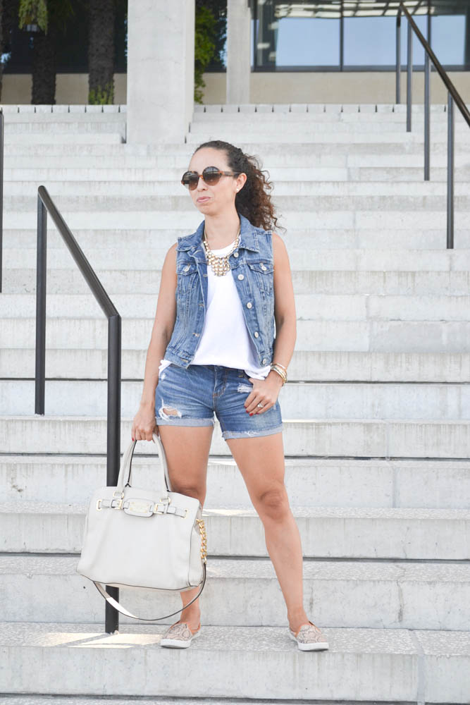 4564dfc85a5b TJ MAXX muscle tee & necklace. FOREVER 21 shorts (similar) H&M bucket  sneakers (sold out) MICHAEL KORS bag (similar) sunglasses c/o ITALIA  INDEPENDENT ...