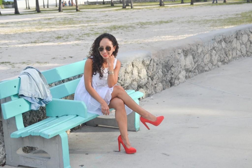 Miami Beach White Dress-5
