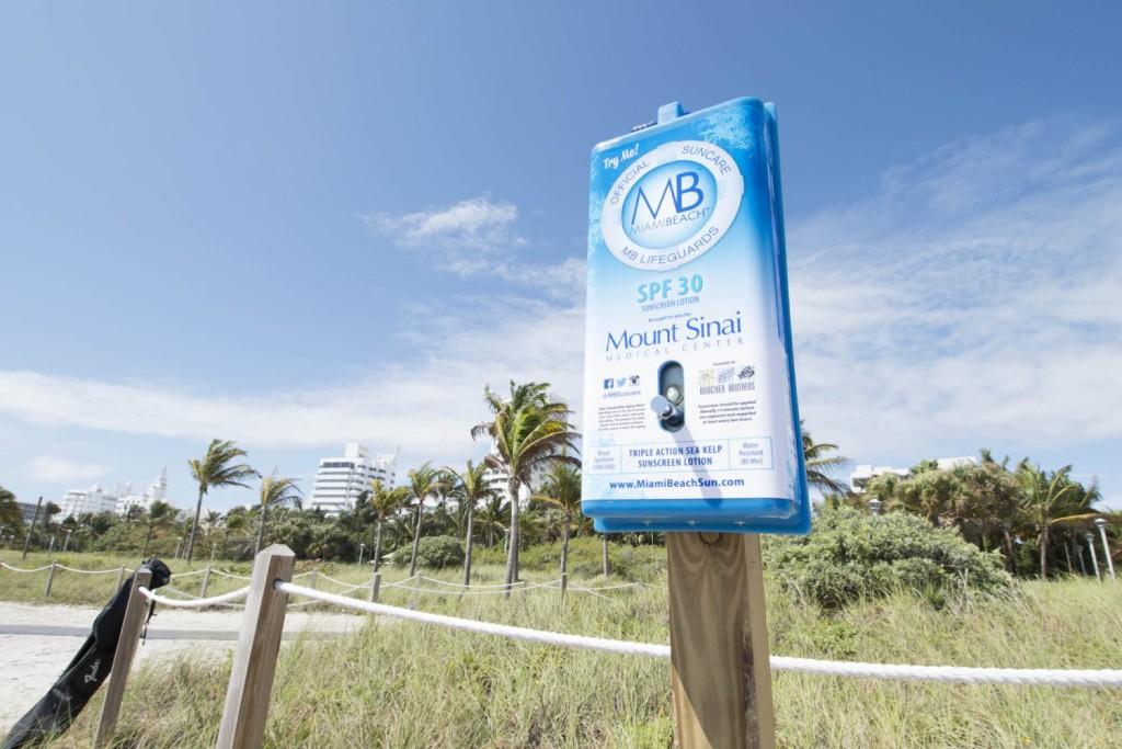 Sunblock Miami beach