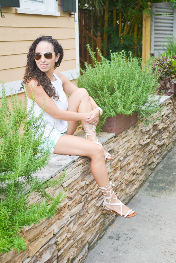 Zara_Tank_Old Navy_Shorts_ootd) (2)