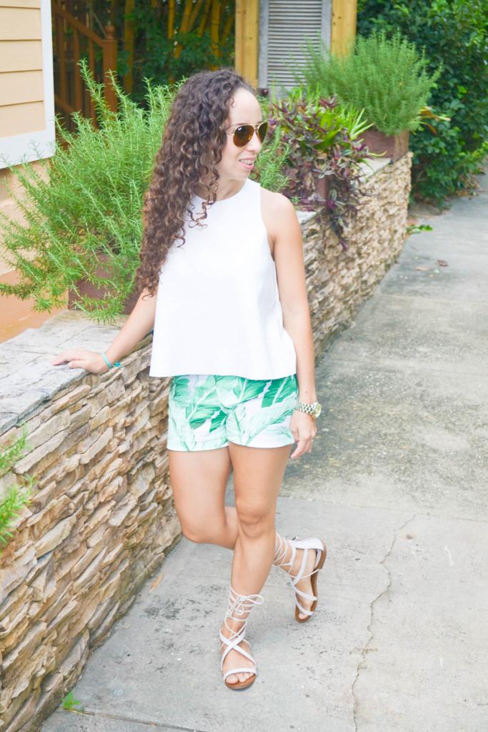 Zara_Tank_Old Navy_Shorts_ootd) (3)