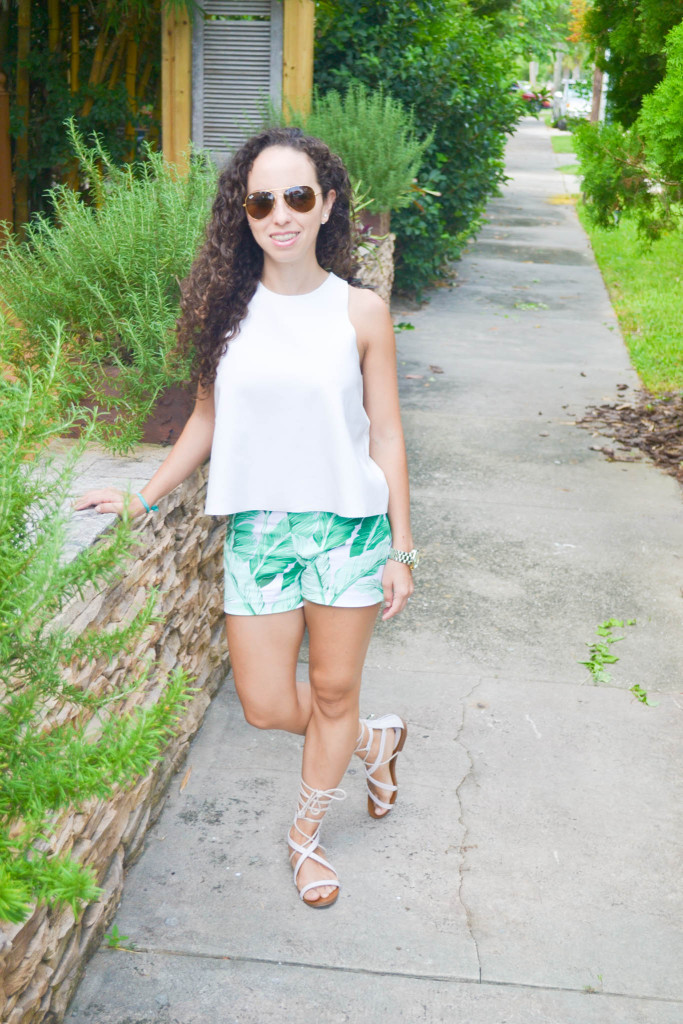 Zara_Tank_Old Navy_Shorts_ootd) (4)